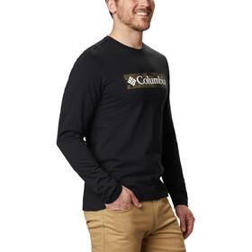 Columbia Lookout Point Langarm Graphic T-Shirt Herren black camo